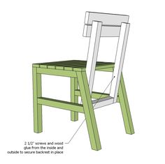 Ana White | Harriet Outdoor Dining Chair for Small Modern Spaces - DIY Projects