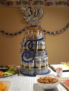 Creative and Unique Birthday Gifts Ideas for Your Boyfriend – Beer Cake Beer Cake Gift, Beer Bottle Cake, Beer Can Cakes, Beer Birthday Party, Birthday Cake For Him, Cake For Boyfriend, Beer Decorations, 21st Bday Ideas, Corona Beer