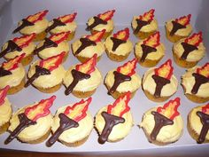 torch cupcakes