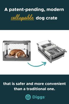 Diggs' award-winning Revol Crate is the most convenient pet crate on the market. It flawlessly combines form, function and safety by taking construction cues from popular, premium baby gear. Designed to fit any home aesthetic, the Revol is engineered using reinforced plastic, aluminum and steel, making it strong, yet lightweight (23lb). Its patent-pending collapsible design allows for easy storage and included wheels make for simplified transport.#dogcrate #homedecorforpets