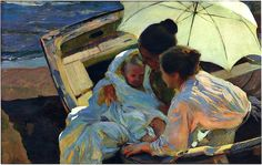 bofransson:    After the Bath - Joaquin Sorolla y Bastida - 1902