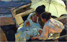 bofransson:    After the Bath - Joaquin Sorolla y Bastida - 1902