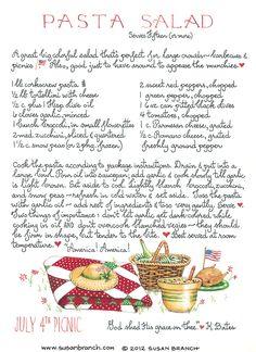 Pasta Salad   Susan Branch Blog