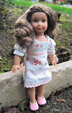 Our Rebecca made the front cover!  Pattern: Mix and Match dresses for your Mini American Girl Doll!  http://www.alldolledup-dollclothes.com/patterns.html