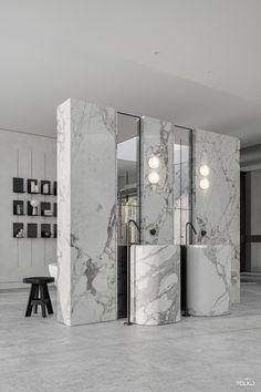 Modern Luxury Bedroom, Bathroom Design Luxury, Modern Bathroom Decor, Luxurious Bedrooms, Interior Architecture Drawing, Interior Design Renderings, Showroom Interior Design, Restroom Design, Home Room Design