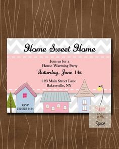 Home Sweet Home House Warming Invitation Housewarming by sugspc, $10.00