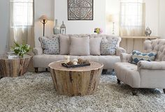 Salvaged Beauty - Antiqued designs get a stylish upgrade in this lovely offering of furniture and decor, abounding with vintage-inspired appeal. Inspire midcentury style in the living room or parlor with button-tufted sofas and chairs, and then anchor the dining room or kitchen with chic stools, traditional tables, weathered sideboards, and more.
