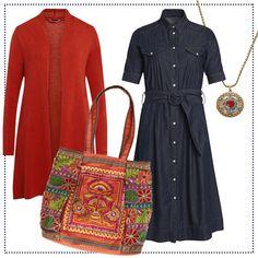 Blue & orange #fashion essential by Brigitte von Boch #bevonboch