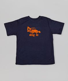 Navy Blue Dig It Excavator Tee - Toddler & Boys