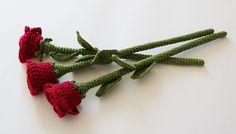 """693. """"Long Stem Roses"""" - pattern by Sandra Åhlberg"""