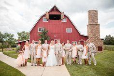 Bridal party - Barn - bridesmaids wearing cowboy boots - Blush pink - Cedar Lake Cellars / Winery - Oldani Photography