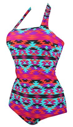 Cocoship Vintage Low Cut Straps Back Swimsuit One Piece Modern Halter Maillot(FBA) at Amazon Women's Clothing store:  https://www.amazon.com/gp/product/B010N29WDA/ref=as_li_qf_sp_asin_il_tl?ie=UTF8&tag=rockaclothsto_bikini-20&camp=1789&creative=9325&linkCode=as2&creativeASIN=B010N29WDA&linkId=62147abfce9620f066c654189ef7ddf4