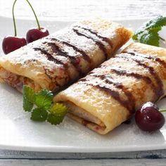 Egy finom Meggyes palacsinta csokiöntettel ebédre vagy vacsorára? Meggyes palacsinta csokiöntettel Receptek a Mindmegette.hu Recept gyűjteményében! Waffles, Pancakes, Fudge, Pizza, Ethnic Recipes, Food, Essen, Waffle, Pancake