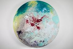 Abstract Art,Glass Painting,Abstract painting,Unique Wall Light,Modern,Wall sculpture,Glass, Wall Art,Oversized Wall clock,Extra Large Clock On