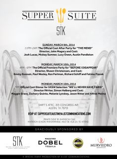 Supper Suite by STK. Programa oficial . Austin TX. 9 -10 Marzo 2014