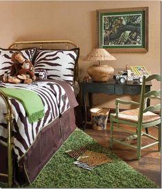 Safari Themed Girls Room | The grandson has a safari themed room.