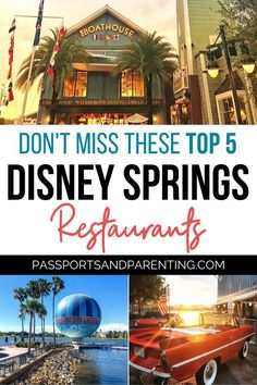 Here are the best Disney Springs Restaurants for dinner, brunch, kids, quick service and more. With such a wide variety of places to eat in Disney World, here are the top 5 places you will definitely want to eat at. Best Disney World Restaurants, Disney Hotels, Disney World Parks, Disney Cruise, Disney Vacations, Disneyland Vacation, Disney Travel, Family Vacations, Cruise Vacation