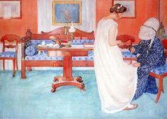 Nedime Carl Larsson (1853 – 1919) Arts and Crafts akımına mensup İsveçli bir ressam ve iç mimar