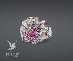 """Be stunned with this white gold """"Fronce Saphir rose"""" ring with diamonds pink sapphires and rubies by @dior #purplebyanki #diamonds #luxury #loveit #jewelry #jewelrygram #jewelrydesigner #love #jewelrydesign #finejewelry #luxurylifestyle #instagood #follow #instadaily #lovely #me #beautiful #loveofmylife #dubai #dubaifashion #dubailife #mydubai #FronceSaphirRose #Ring #PinkSapphires #Rubies"""