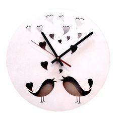 Love Bird Clock – White from Wall Clock Wonders - R169 @Citymob South Africa South Africa