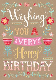 Louise Anglicas Happy Birthday Typography, Happy Birthday Wishes Quotes, Happy Birthday Girls, Happy Birthday Friend, Birthday Blessings, Happy Birthday Images, Happy Birthday Greetings, Birthday Quotes, Happy Birthday Chalkboard