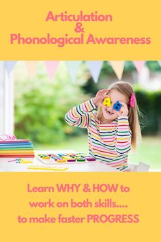 Children with speech sound disorders and/or phonological disorders are at risk for reading difficulties due to deficits in phonological awareness. #phonologicalawareness #articulationtherapy #speechtherapy #slp