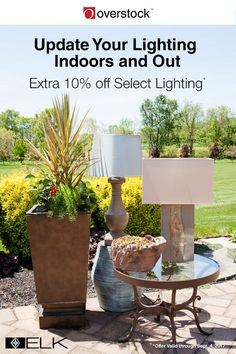 Not only is this elegant lamp designed for outdoor use, but it also complements outdoor furnishings and looks like it has always belonged on the back deck. The lamp is just one of the hundreds of lighting styles you'll find at Overstock.