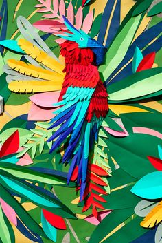 Mlle Hipolyte recrea una selva tropical con pedazos de papel cortado a mano | Maria victrix