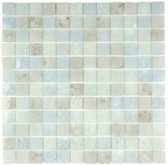 "Lakeview 1"" x 1"" Glass Mosaic Tile in Barbados"