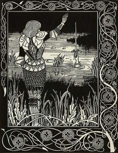 Le Morte de Arthur by Aubrey Beardsley by DALAIWMN, via Flickr  A beautiful book in the Art Nouveau category.