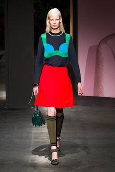 Pin for Later: 34 Reasons Why We Want to Live in Prada's Whimsical World Prada Spring 2014 If you're a fan of colorblock, we have a feeling you'll fall for the Spring 2014 lineup.