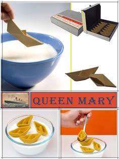 Queen Mary - paper boat shortcrust pastry biscuits filled with hazelnut chocolate - Lorena Masdea #foodesign #madeinitaly