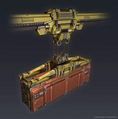 QR 3d Container Crane by Talros.deviantart.com on @deviantART