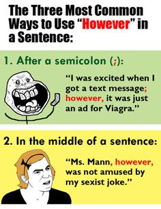 What's the deal about semicolons?