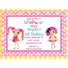 La La Loopsey Invitations