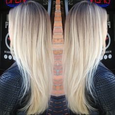 bright blonde balayage - Google Search
