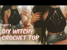 DIY WITCHY CROCHET HALTER TOP PART 1 - YouTube