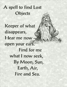 Spell to find lost objects. obvs need this every single day...
