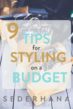 Does the thought of a budget make you cringe? Do you sometimes have to choose between a fabulous new pair of shoes or paying a bill? Well, just because you have a budget, doesn't mean that you can't look effortlessly stylish. There are SO many ways to hav