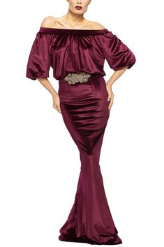 LUMIERE - ROCHIE SIRENA DIN CATIFEA BORDEAUX Bordeaux, Mermaid, Formal Dresses, Image, Fashion, Dresses For Formal, Moda, Formal Gowns, Fashion Styles
