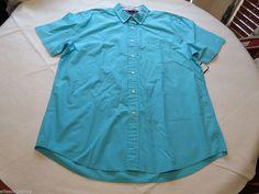 Men's Tommy Hilfiger shirt XL button up 7847878 capri pt 496 turquoise blue #TommyHilfiger #ButtonFront
