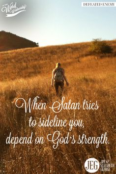 """To withstand Satan's attacks: """"Put on the full armor of God, so that you can take your stand against the devil's schemes"""" (Ephesians 6:11)."""