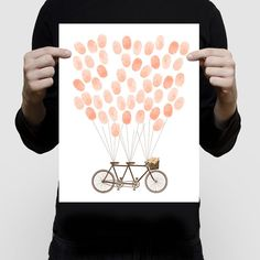 tandem+bicycle+wedding+fingerprint+guest+book+by+creativemonsoons