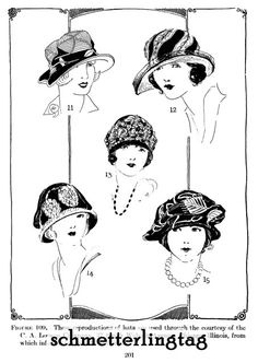 "Page from Millinery Book, ""1920's Hat Making Techniques"" by Jane Loewen, originally published in 1925."