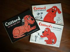 Lot of 3 Vintage Children's Books - Clifford The Big Red Dog by MatriarchVintage, $15.00