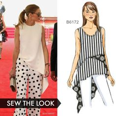 Sew the Look: Butterick sleeveless top with a distinct high-low hem. B6172 sewing pattern.