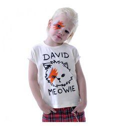 David Meowie Short Sleeve T-Shirt Oatmeal Rock Your Kid summer 2014