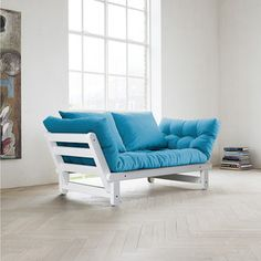 Beat Sofa White Frame Blue