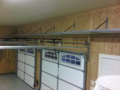 Garage Shelving Ideas in Various Styles : Traditional Garage Shelving Ideas Furniture With Iron Material