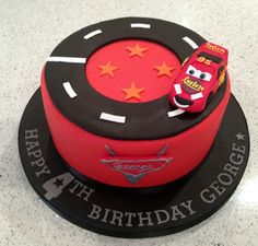 easy lightning mcqueen birthday cake - Google Search